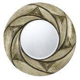 Found it at Wayfair - Ponza Round Polyurethane Frame Mirror with Beveled Glass