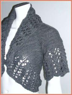 Lavori a maglia: coprispalle - Coprispalle con trafori