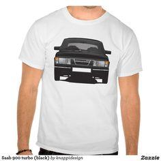 Saab 900 turbo (black) tee shirts  #saab900 #sweden #sverige #svenska #swedish #bil #auto #car #troja #tshirt #paita #turbo #classics #80s #70s