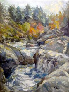 grey river  60x80 oil on canvas