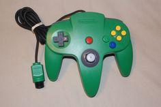 Official Nintendo 64 N64 Green Controller Good Joystick Original Genuine Clean #Nintendo