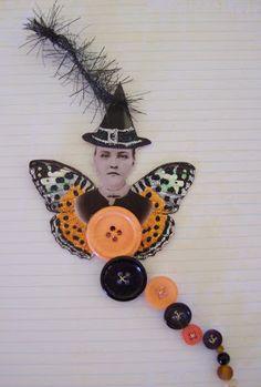 Lillie Catherine Designs: altered Halloween button art