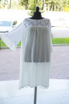 Plus size lagenlook  cotton tunic cotton dress ,white mini linen dress ,white  summer dress,