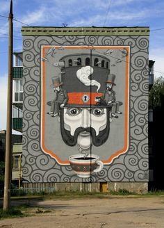 Street art by Kislow