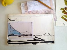 Design Loch Nevis hand printed book #Morar #Scotland | www.lotjemeijknecht.nl