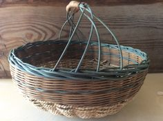 Knitting basket- craft basket- fruit basket - harvest basket- driftwood basket by StormWeave on Etsy