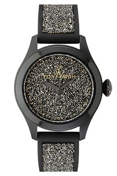 Women's Glitter Silicone Strap Watch