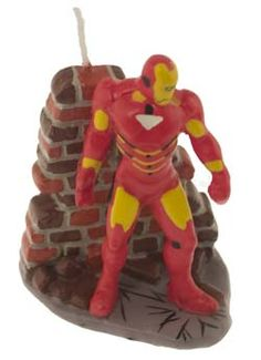 Standing Iron Man Candle 5th Birthday Party Ideas, Boy Birthday Parties, 7th Birthday, Party Themes, Iron Man Party, Character Cakes, Party Shop, Cake Decorating, Candle