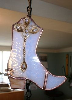 cowgirl boots stain glass