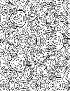 free adult colouring page more