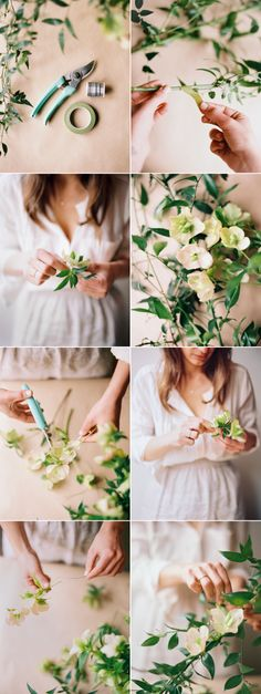 DIY Spring Wedding Garland