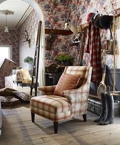 Sporting Life mixes luxurious printed velvets, vintage linen Kilim prints with jacquards weaves, wools, stripes and co-ordinating wallpapers. #linwood #sportinglife #wortleygroup http://www.wgshowroom.com.au/showroom/index.php/collections/linwood/sporting-life.html