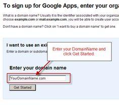 Google apps for domain tutorial