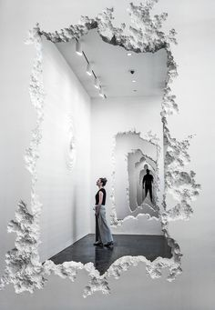 "<p>Daniel Arsham's latest exhibition, ""The Future Was Then,"" demolishes our expectations of an art gallery by recreating the space to feature 300 feet of white walls with excavated centers. The walls"