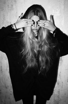 hipster girl black and white - Google Search