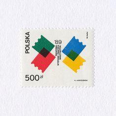 Poland - World Stamp Exposition, design by Waldemar Andrzejewski, 1989