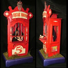 FREAK SHOW / CIRCUS Ticket Booth with working light. £295.00, via Etsy.