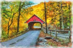 The Flume Gorge covered bridge takes a little walk to get into but is so worth it. The Bridge is a common one for aspiring photographers and professionals alike to capture.