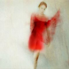Red dress abstract