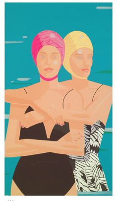"Alex Katz, ""Eleuthera."" Well known for his large paintings, whose bold simplicity and heightened colours are now seen as precursors to Pop Art. His paintings are defined by their flatness of colour and form, their economy of line, and their cool but seductive emotional detachment"