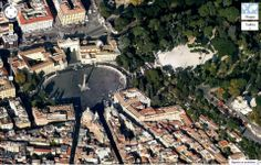 Roma Piazza del Popolo e la terrazza del Pincio