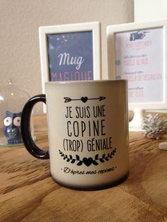 Mug magique avec message personnalisé : Vaisselle, verres par lecomptoirdubonheurbyvincelie