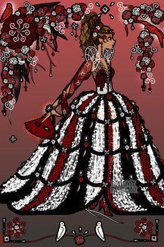 Queen of Scene! ~ made by hotchy on the Erte Elegance fashion game