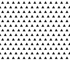 black triangles fabric by ivieclothco on Spoonflower - custom fabric