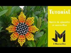 J-Mostacillas - YouTube Crochet Flower Tutorial, Crochet Flowers, Beaded Rings, Beaded Jewelry, Christmas Jewelry, Beading Tutorials, Bead Weaving, Seed Beads, Crochet Patterns