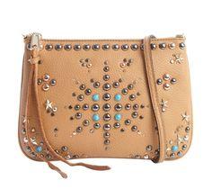 NWT Rebecca Minkoff Pebbled Leather Ascher Jeweled Crossbody Bag Almond Khaki #RebeccaMinkoff #MessengerCrossBody