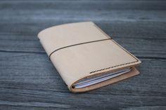 Ledereinband / Travel Journal für 2 Moleskine Cahier / Field Notes natur Tasche | eBay