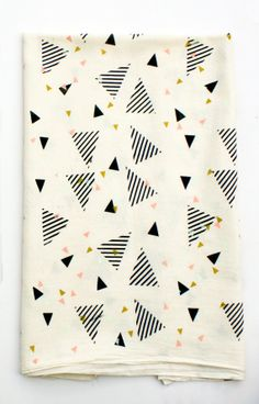 Party Rock- screen printed, organic cotton tea towel, custom colors $16.00 (can customize with four different colors)