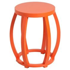 Check Out This Item At One Kings Lane! Cole Side Table, Orange