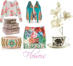 """""""Flowers"""" by macnetize on Polyvore"""