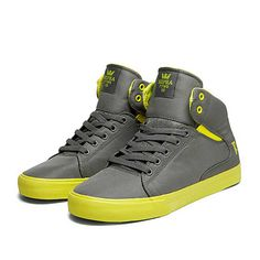 SUPRA SOCIETY MID FRESH | GREY - NEON YELLOW | Official SUPRA Footwear Site