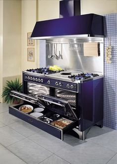 need this stove. This Stove. I want this stove. for the love of all that's holy. I want this stove. for the love of all that's holy. Purple Kitchen, New Kitchen, Kitchen Dining, Kitchen Decor, Kitchen Paint, Kitchen Ideas, Awesome Kitchen, Beautiful Kitchen, Large Kitchen Stoves
