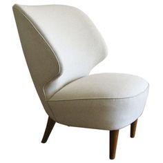 1stdibs.com | Large beautiful Swedish Art Deco slipper wing-chair 1940's.