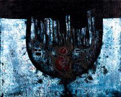 Medek Mikuláš, Sklenice plná nepokoje I, 1966, olej, plátno, 49 x 60 cm