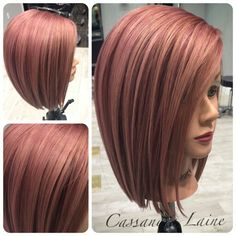 Dark Rose Gold Medium Hair By Cassandra Laine
