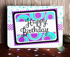 """Happy Birthday Card by Allison Cope featuring """"UB2U"""", """"Yay Stripes"""" & """"Bring on the Cake"""" stamp sets from Catherine Pooler Designs"""
