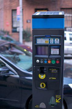 New parking meter in NYC.