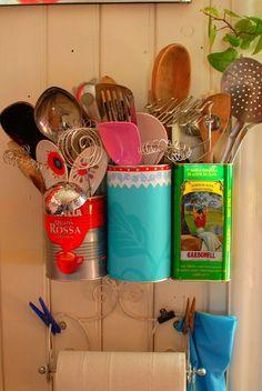 Moda de Cozinha: Decor Inspiration: Vintage little cans decor