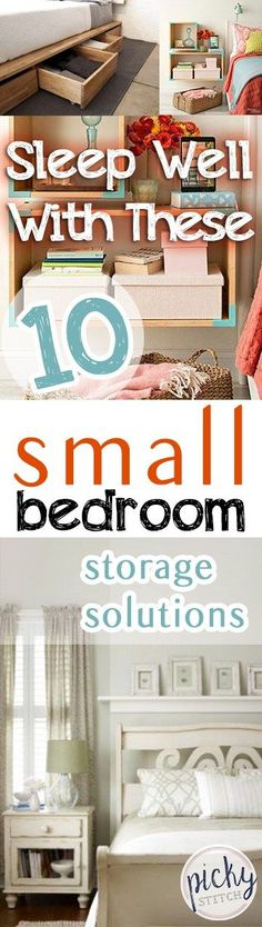 Small Bedroom Storage, Small Bedroom Storage Solutions, Home Storage, Storage Ideas for the Home, Home Storage Hacks, How to Organize Small Homes, SMall Home Organization Hacks