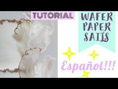 Cómo hacer WAFER PAPER SAILS (En ESPAÑOL) - YouTube Wafer Paper Flowers, Wafer Paper Cake, Cake Tutorial, Flower Tutorial, Sugar Sheets, Mermaid Cakes, Dessert Decoration, Cake Decorating Tutorials, Buttercream Cake