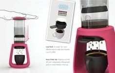 EsPresso™ Coffee Press by Dave Pickett, via Behance