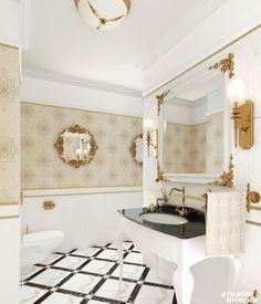 Design Interior Apartament în stil Neoclasic, Complex VallettaCreativ Interior Design Interior, Fancy, Mirror, Modern, House, Furniture, Home Decor, Ideas, Trendy Tree
