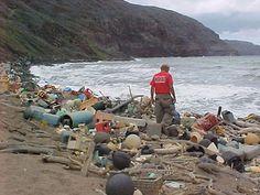 Marine debris on the Hawaiian coast