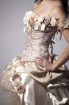 Silk roses wedding dress Tan Bridesmaids, Tan Bridesmaid Dresses, Bridal Dresses, Beach Dresses, Bridal Gown, Wedding Dress Chiffon, Wedding Gowns, Ivory Wedding, Dress Prom