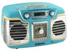 Emerson Light Blue Bakelite Radio