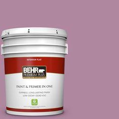 BEHR Premium Plus 5-gal. #690D-5 Winsome Rose Zero VOC Flat Interior Paint